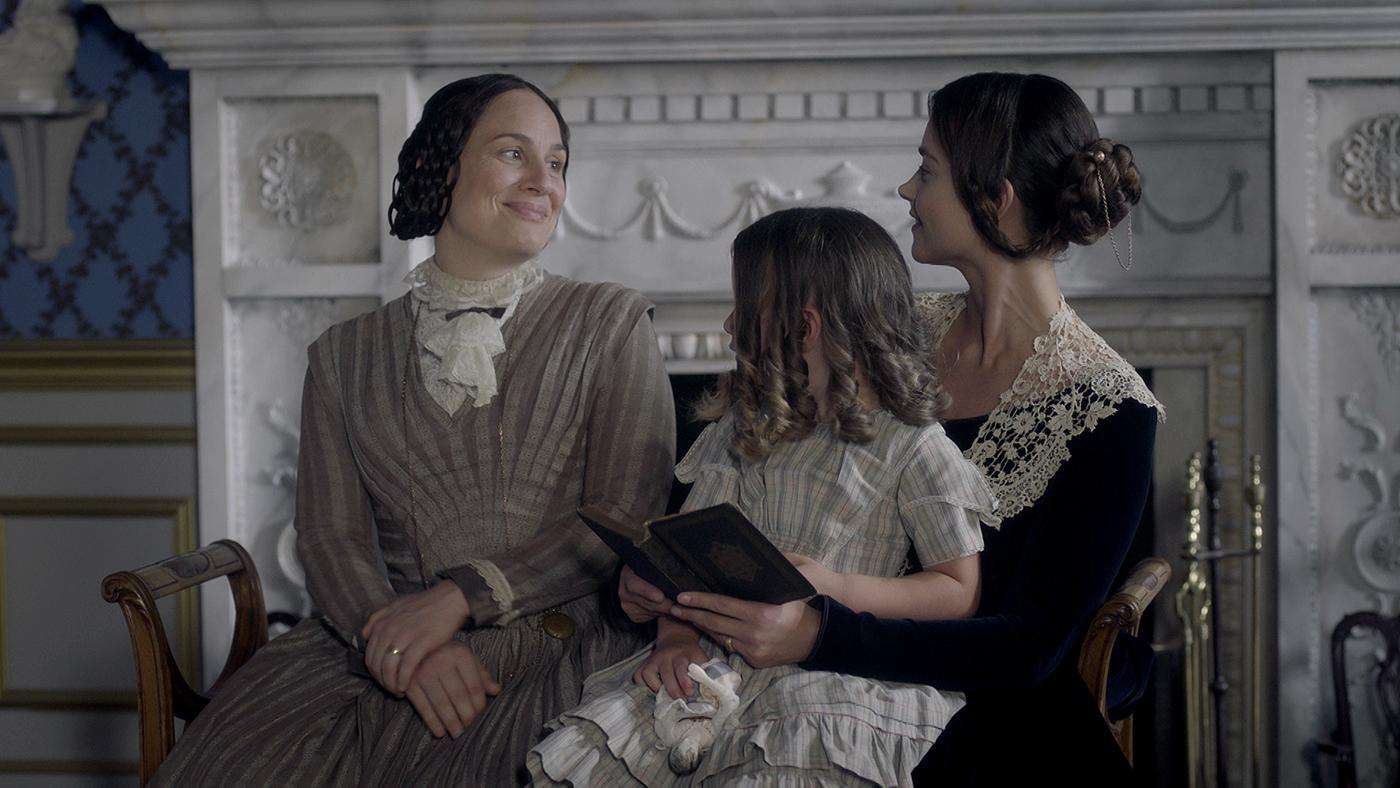 Baroness Lehzen and Queen Victoria with her child. Photo: ITV Studios