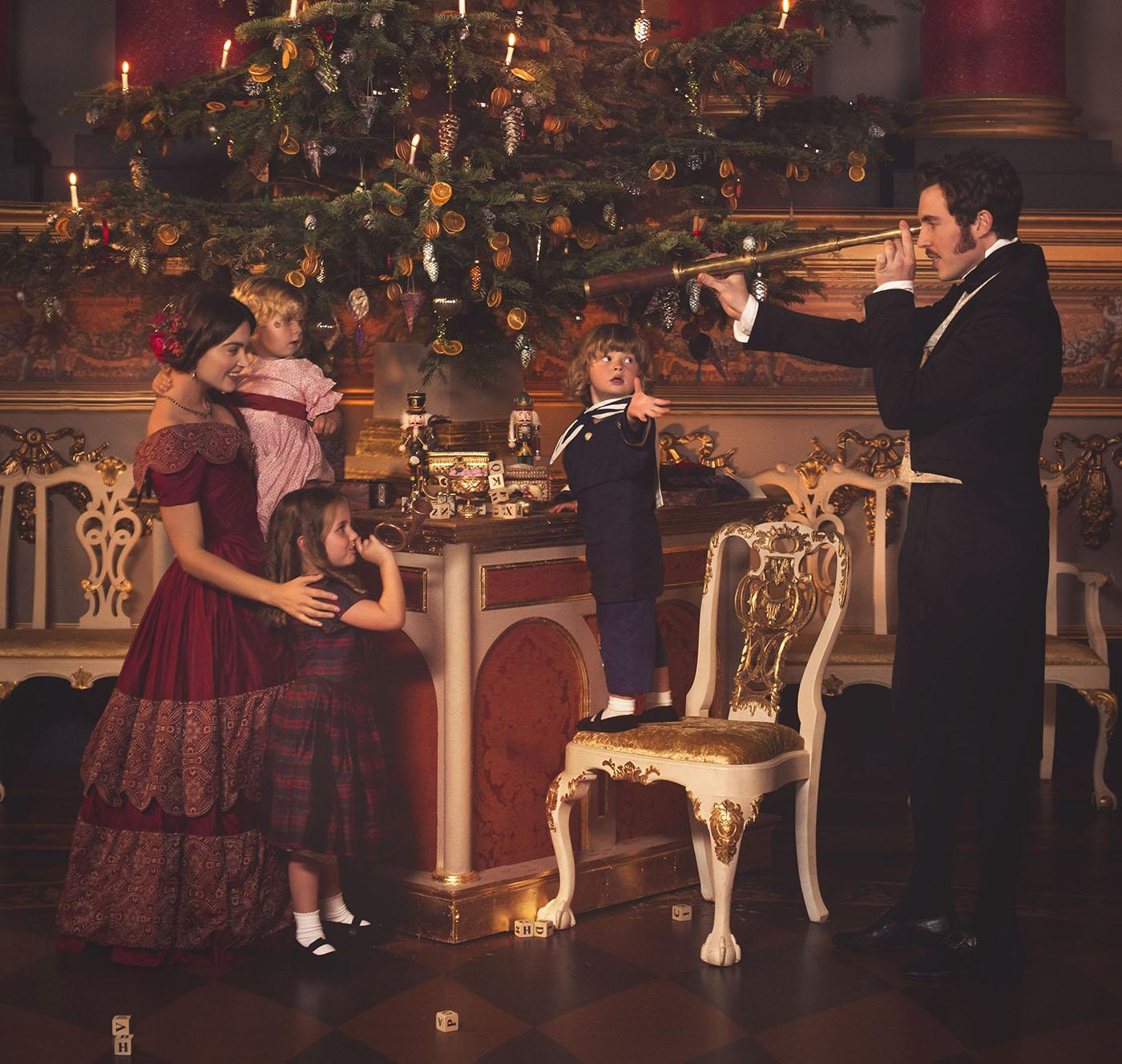 Queen Victoria and Prince Albert at Christmas. Photo: ITV Studios