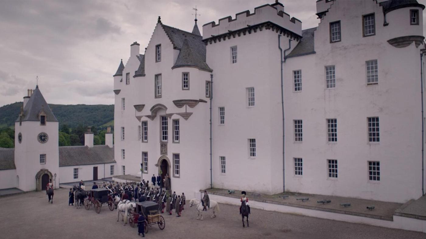 Blair Castle, the suit of the Scottish Duke of Atholl, in Victoria. Image: ITV Studios