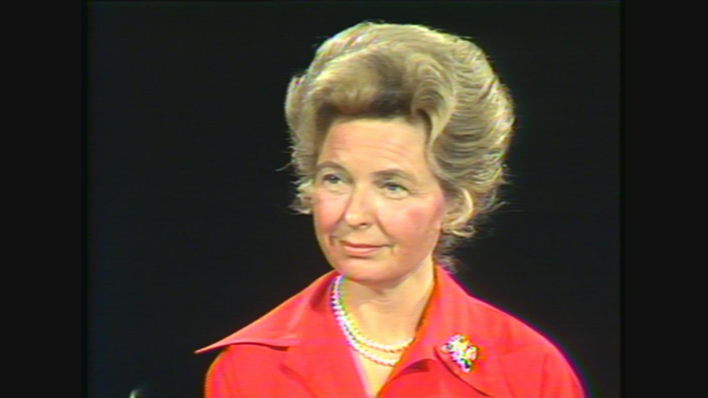 "Conservative leader and anti-""women's liberation"" activist Phyllis Schlafly in 1977"