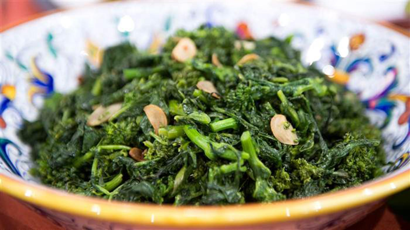Lidia Bastianich's Broccoli Rabe with Olive Oil and Garlic