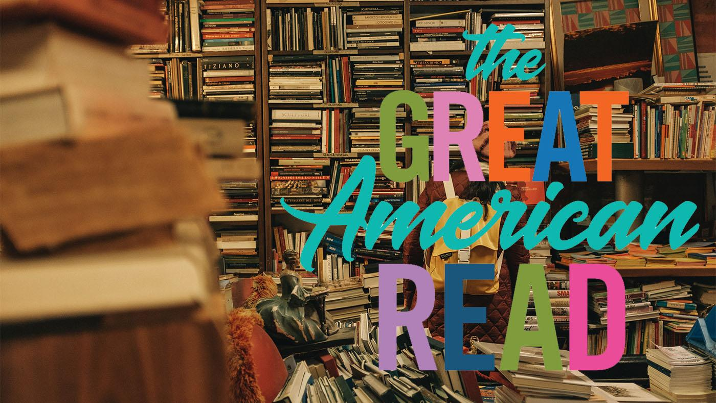 The Great American Read logo and books