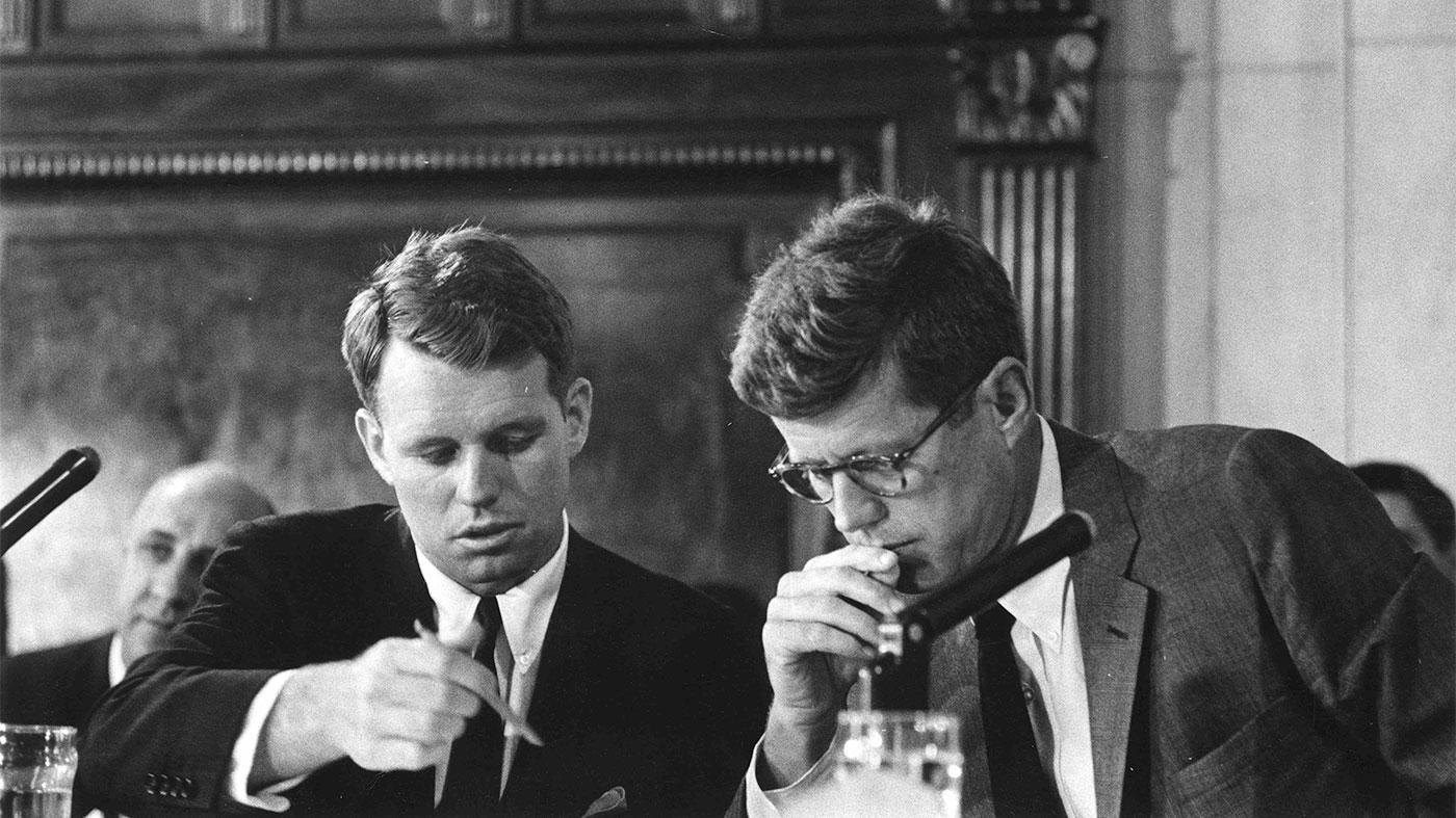 Robert F. Kennedy and John F. Kennedy during the McClellan Senate hearings circa May 1957. Photo: Howard Jones for Look Magazine / John F. Kennedy Presidential Library and Museum, Boston
