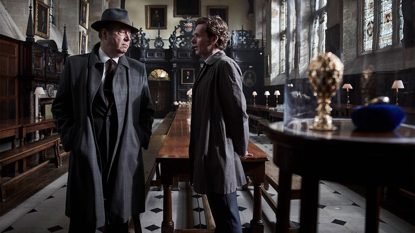 Roger Allam as Detective Chief Inspector Fred Thursday and Shaun Evans as Detective Sergeant Endeavour Morse. Photo: ITV and MASTERPIECE