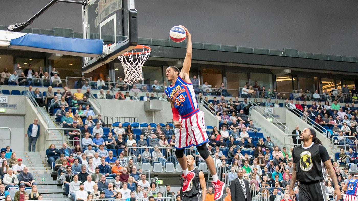 The Harlem Globetrotters in 2017 in Germany