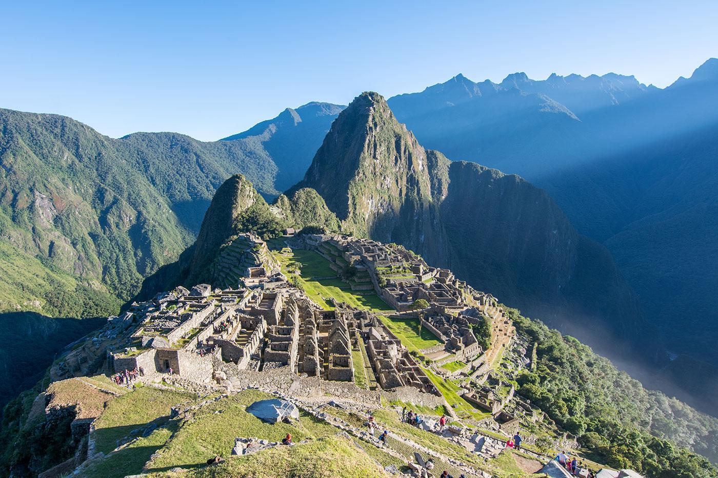 Sunrise at the Incan ruins of Machu Picchu. Photo: BBC/Matthew Wright