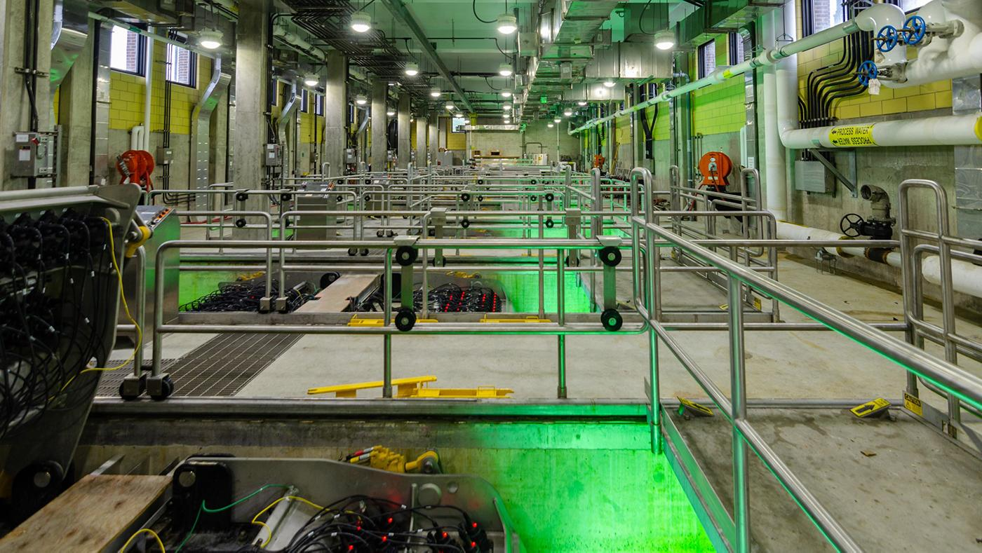 The Terrence J. O'Brien Water Reclamation Plant. Photo: Eric Allix Rogers