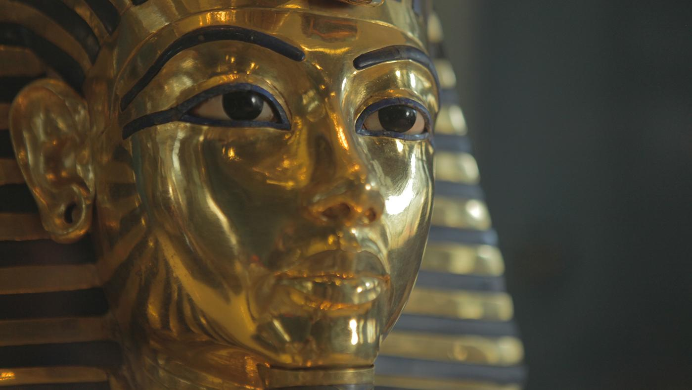 Mask of Tutankhamun. Photo: Isabelle Sutton/BBC