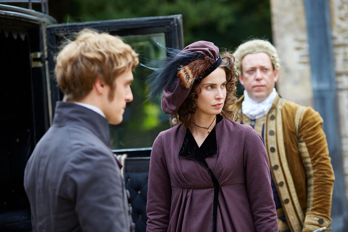 Jack Farthing as George and Heida Reed as Elizabeth in Poldark. Photo: Mammoth Screen for BBC and MASTERPIECE