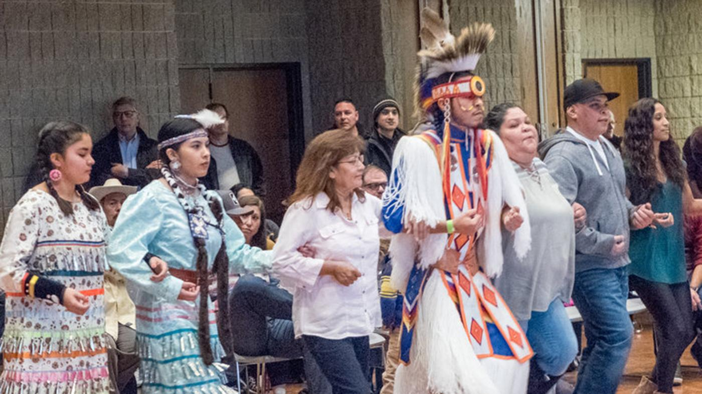 A dance at Chicago's American Indian Center. Photo: American Indian Center