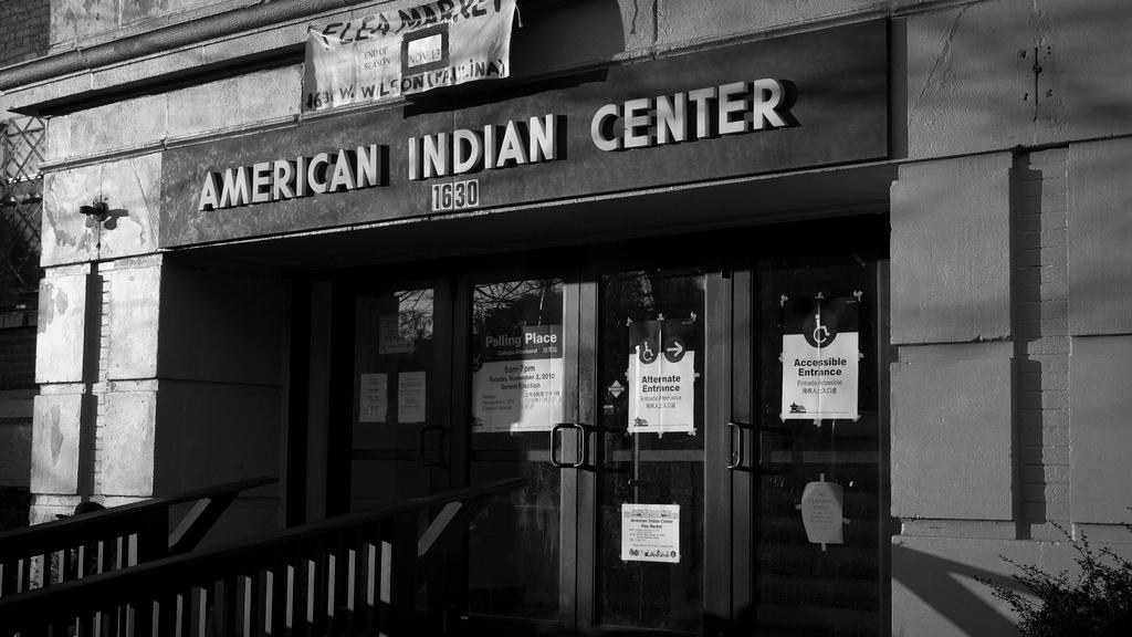 The previous location of the American Indian Center in Chicago