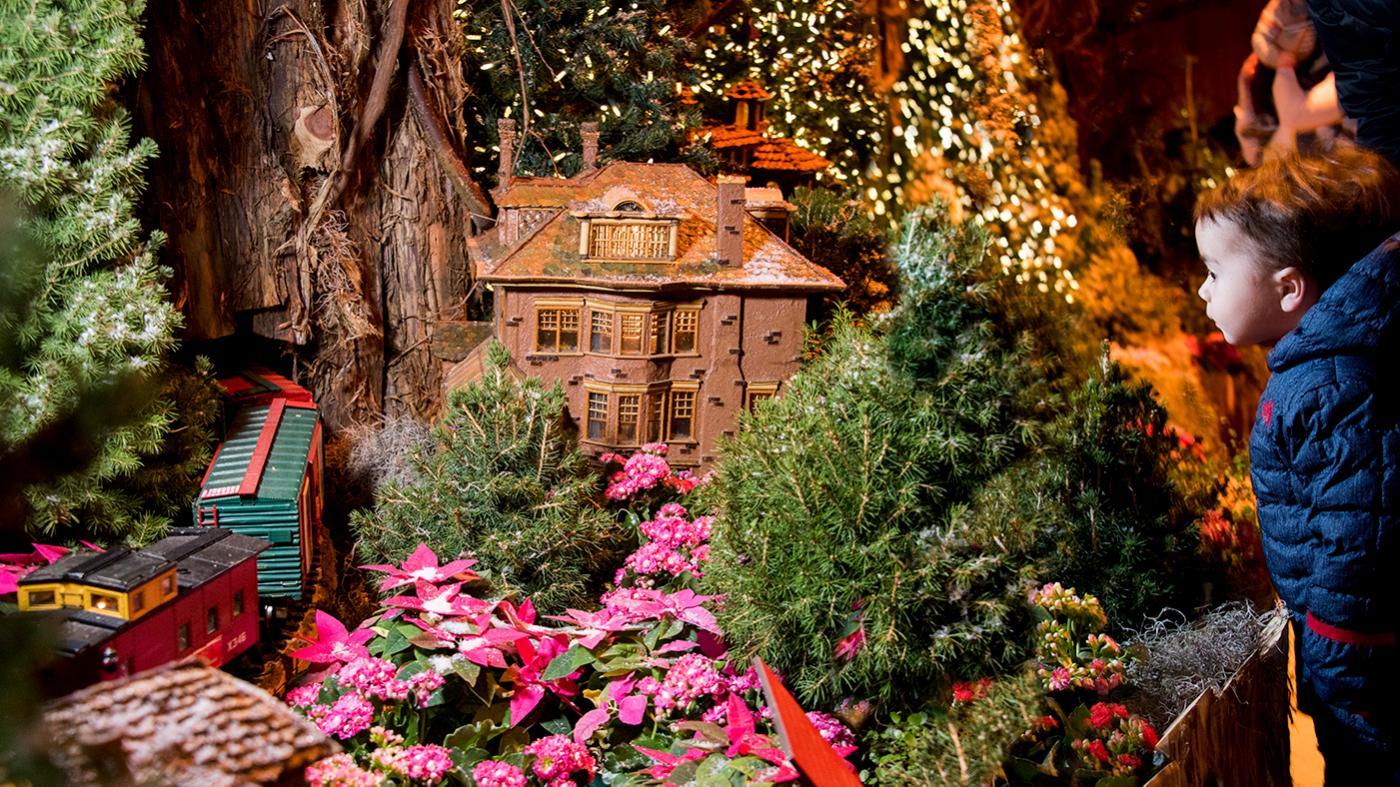 The Chicago Botanic Garden's Wonderland Express exhibition. Photo: Chicago Botanic Garden