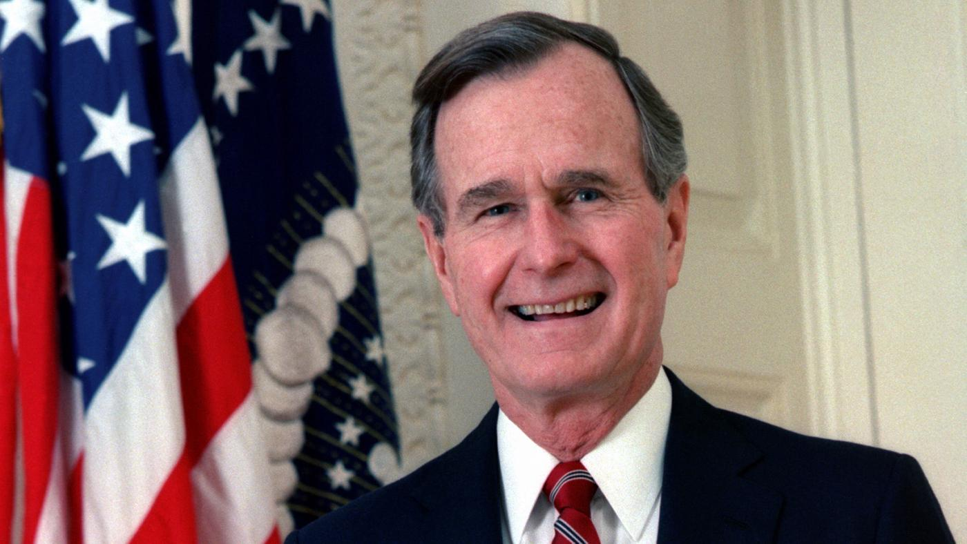 Official portrait of George H. W. Bush, 41st president of the United States, c. 1989.