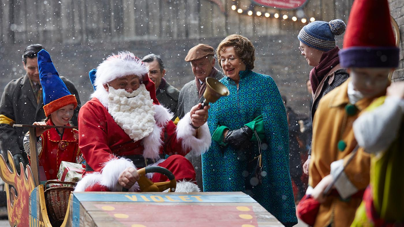 Fred Buckle (CLIFF PARISI), Violet Buckle (ANNABELLE APSION), Reggie (DANIEL LAURIE) in the Call the Midwife holiday special. Photo: Neal Street Productions