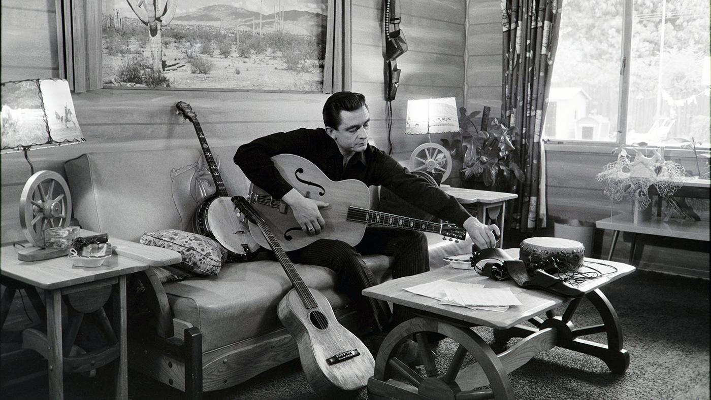 Johnny Cash at his home in California, 1960. Photo: Sony Music Archives