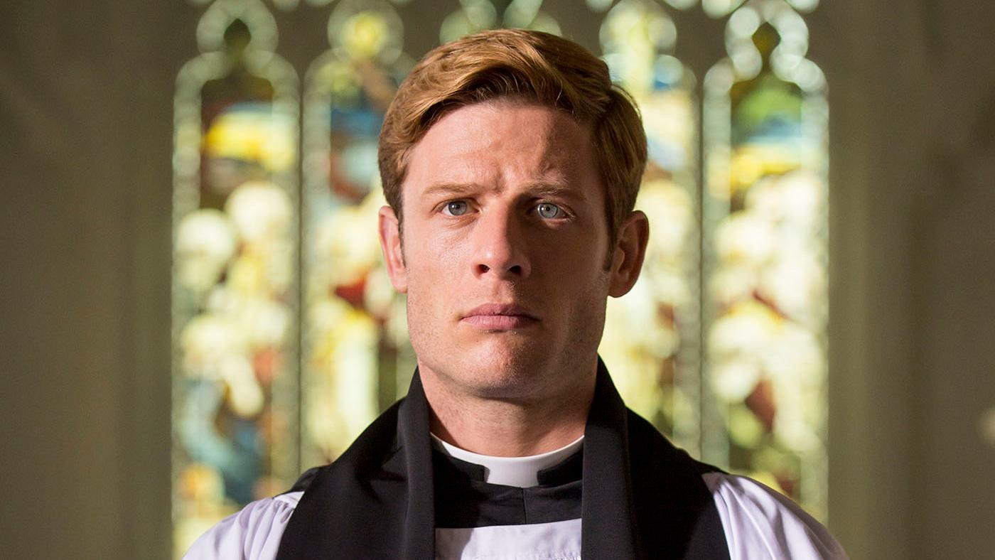 James Norton as Sidney Chambers in Grantchester. Photo: Colin Hutton and Kudos/ITV for MASTERPIECE