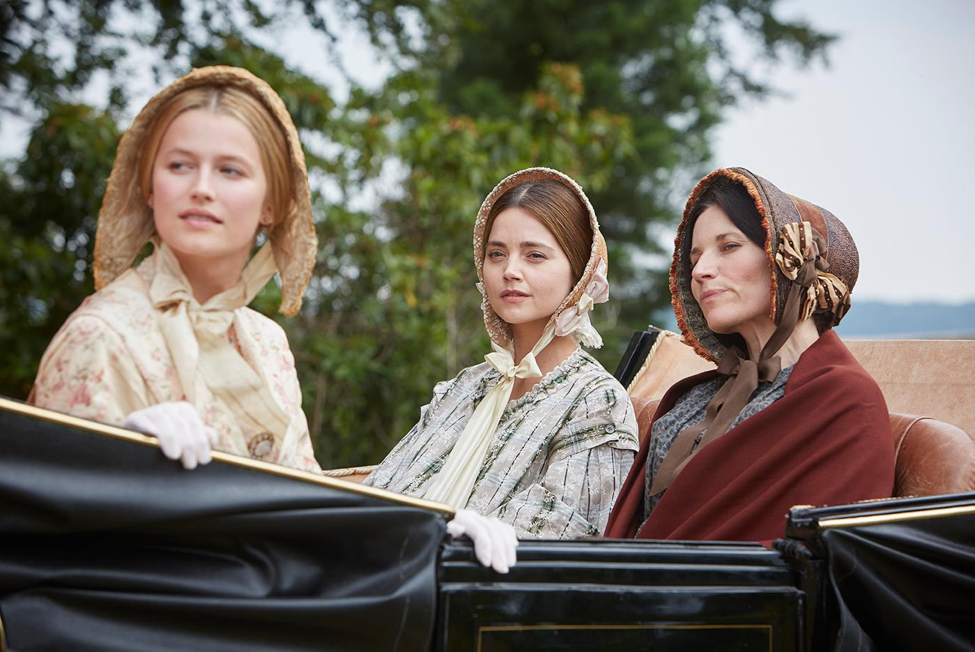 Sophie (Lilly Travers), Victoria (Jenna Coleman), and Feodora (Kate Fleetwood) in Victoria. Photo: Justin Slee/ITV Plc for MASTERPIECE