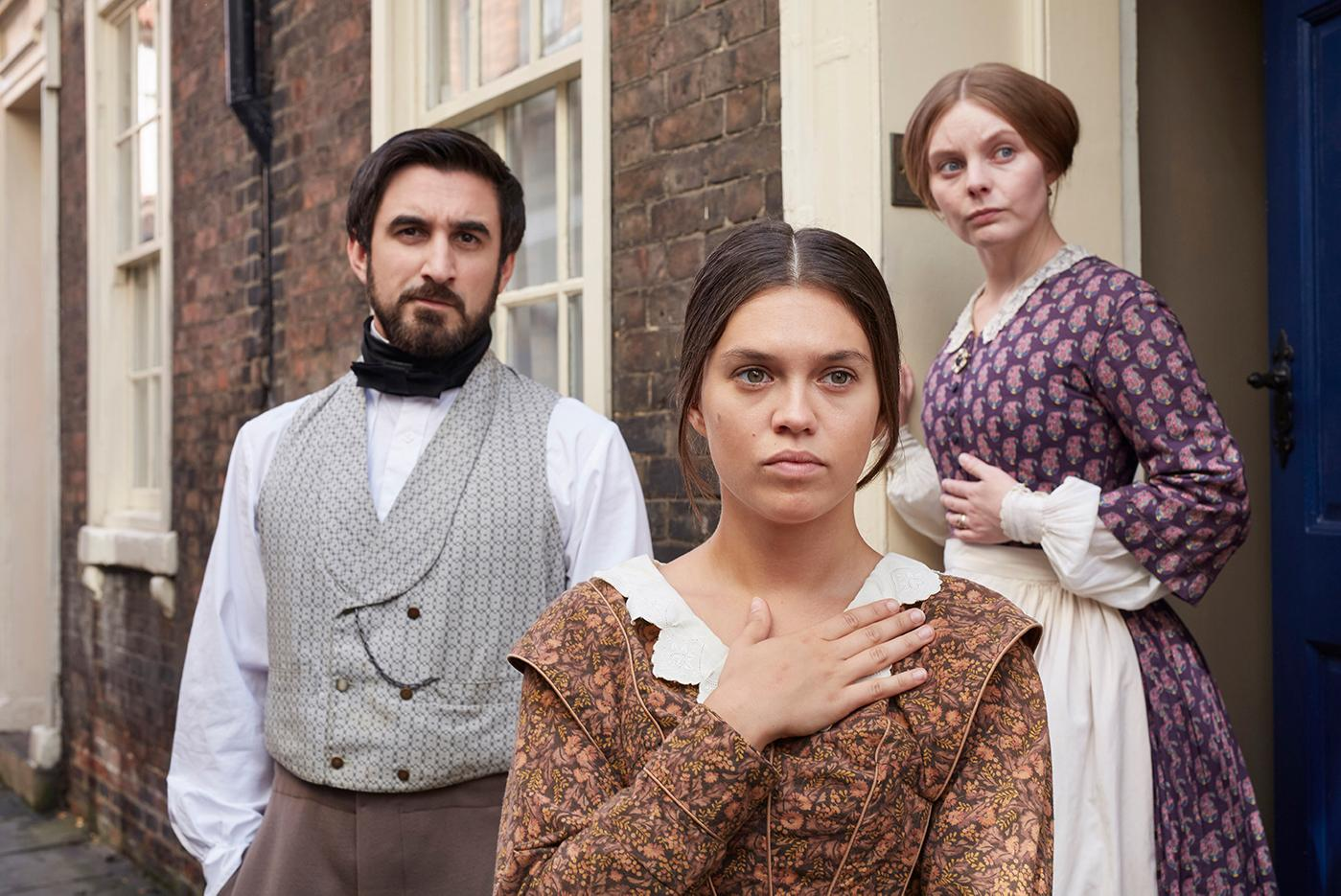 Francatelli, Abigail, and Skerrett. Photo: Justin Slee/ITV Plc for MASTERPIECE