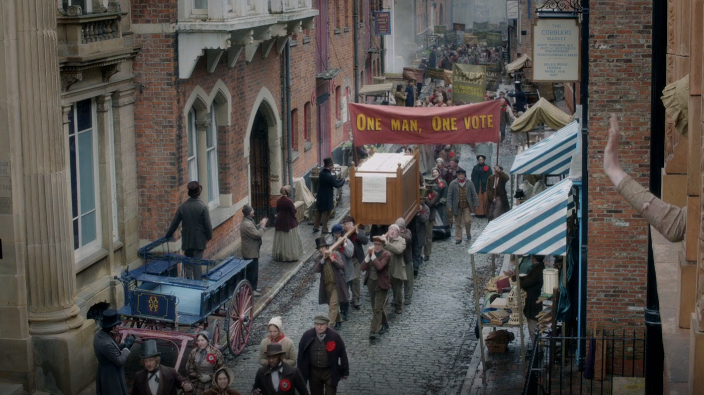 A Chartist mass demonstration in 'Victoria'