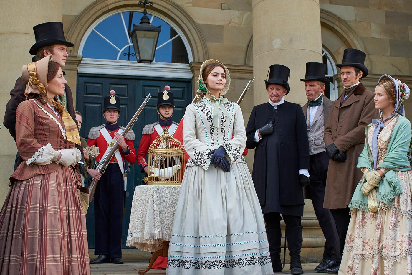 Jenna Coleman as Victoria in Dublin. Photo: Justin Slee/ITV Plc for MASTERPIECE