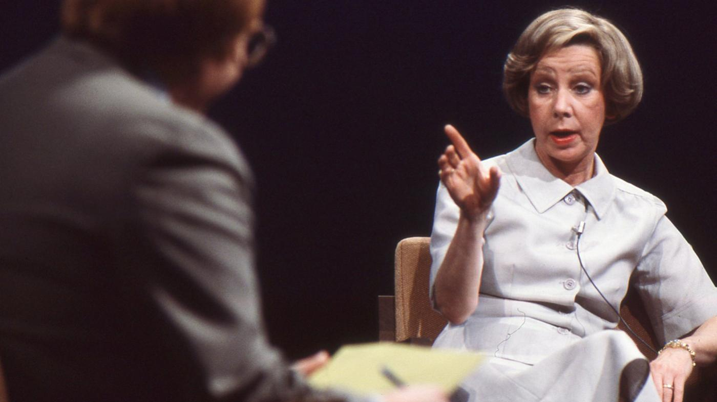 Jane Byrne at a 1979 WTTW mayoral forum