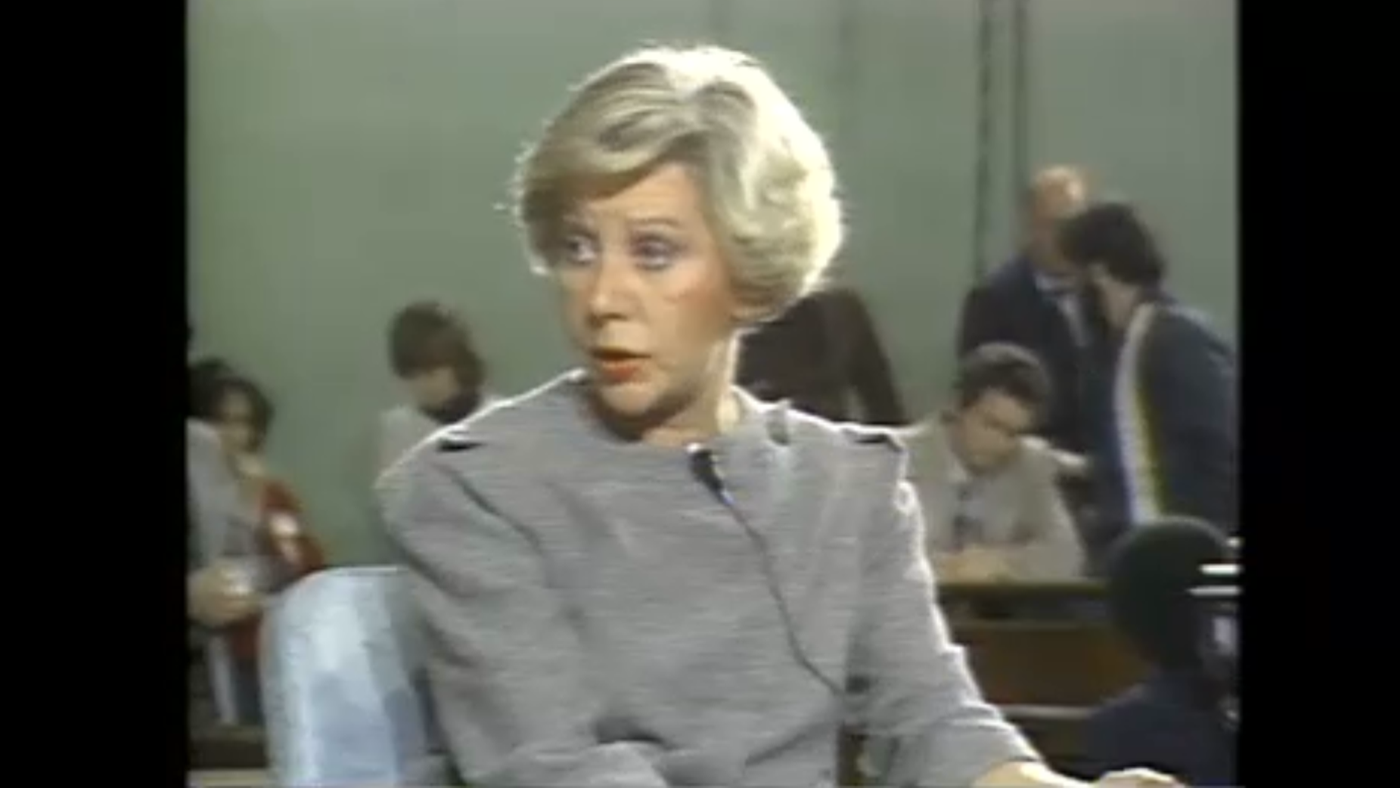 Jane Byrne at City Hall on WTTW's Feedback in 1980