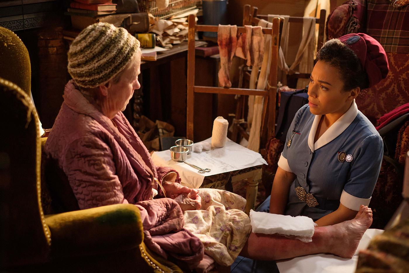Lucille with Ms. Millgrove in Call the Midwife. Photo: BBC/Neal Street Productions