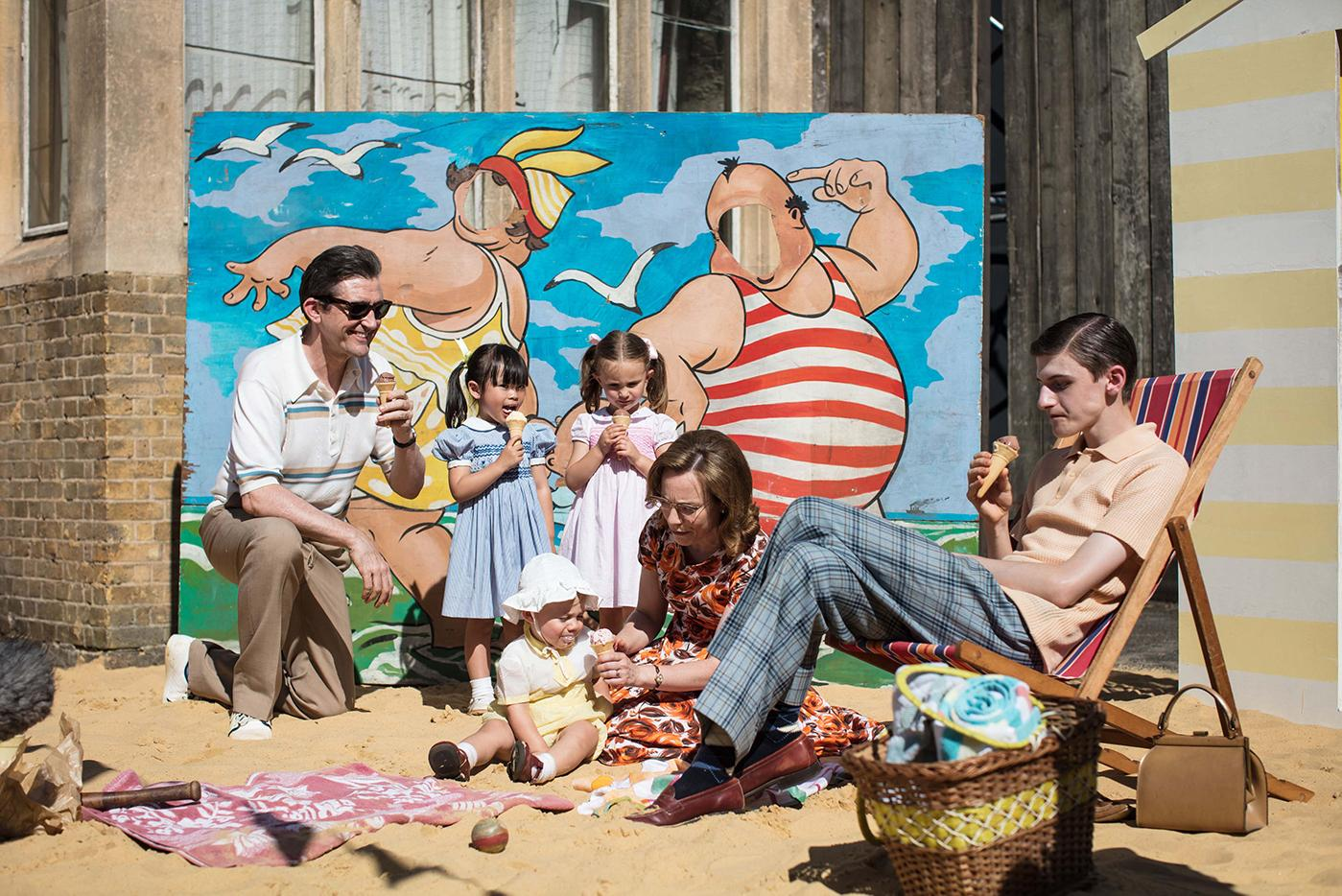 "The Turner family on the ""beach"" in Call the Midwife. Photo: BBC/Neal Street Productions"