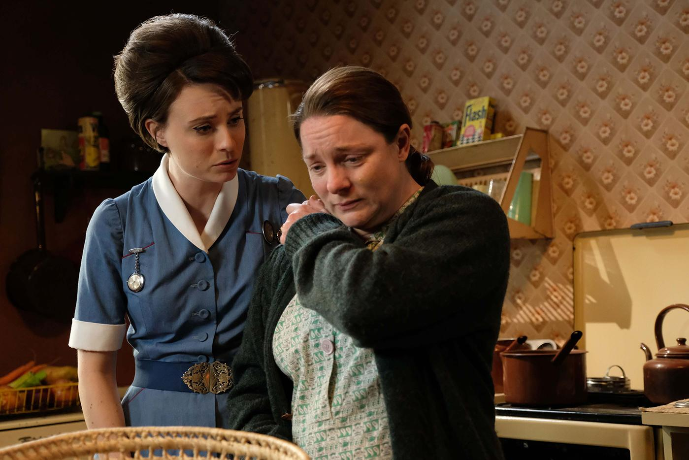 Valerie and Betty Marwick in Call the Midwife. Photo: BBC/Neal Street Productions