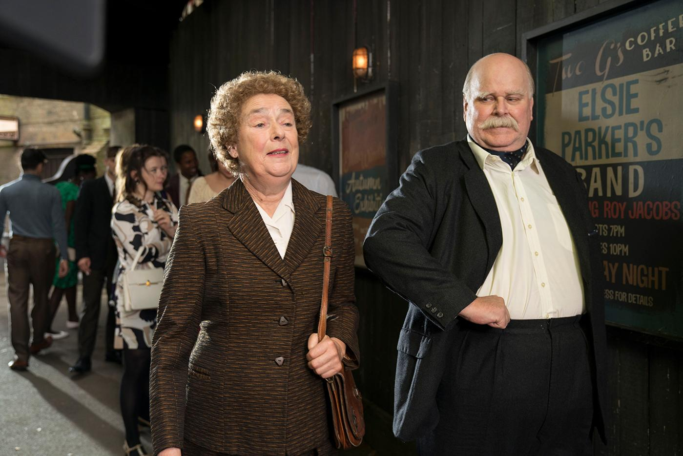 Phyllis Crane and Sergeant Woolf in Call the Midwife. Photo: BBC/Neal Street Productions