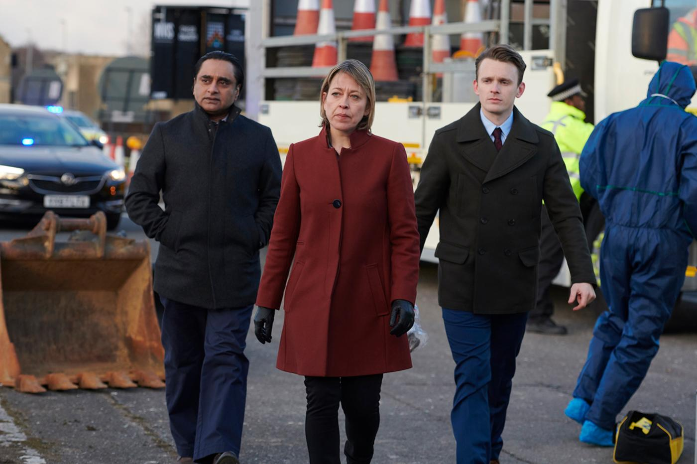 Sanjeev Bhaskar as DI Sunny Khan and Nicola Walker as DCI Cassie Stuart in Unforgotten. Photo: Mainstreet Pictures for ITV and MASTERPIECE