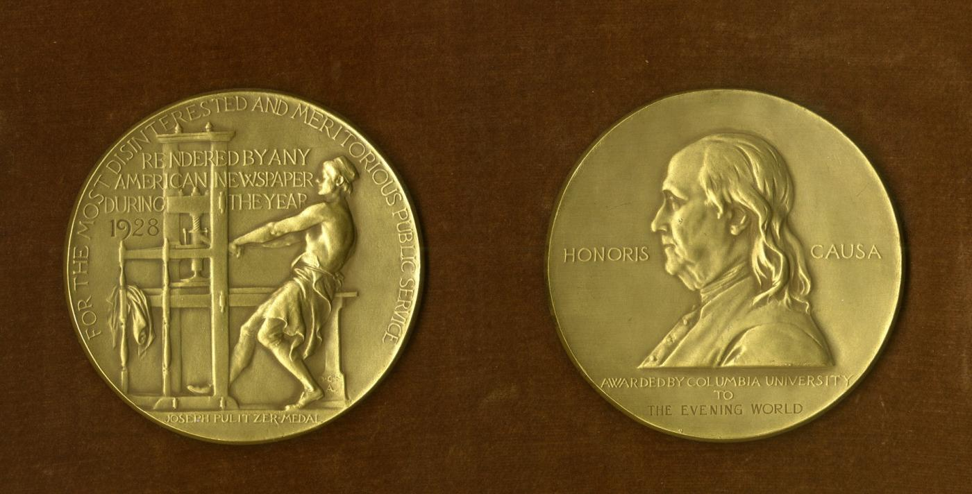 A Pulitzer Prize medal