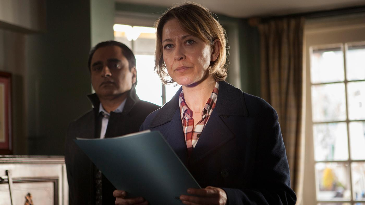 Sunny (Sanjeev Bhaskar) and Cassie (Nicola Walker) in Unforgotten. Photo: Mainstreet Pictures for ITV and MASTERPIECE