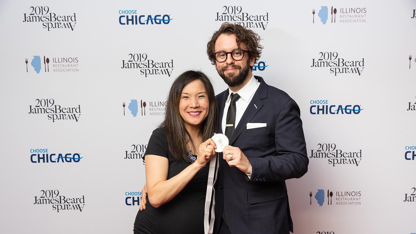 Beverly Kim and Johnny Clark at the James Beard Awards. Photo: Galdo Photography