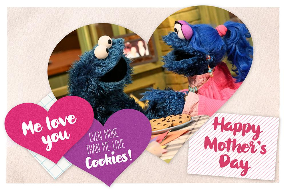 Happy Mother's Day from Cookie Monster