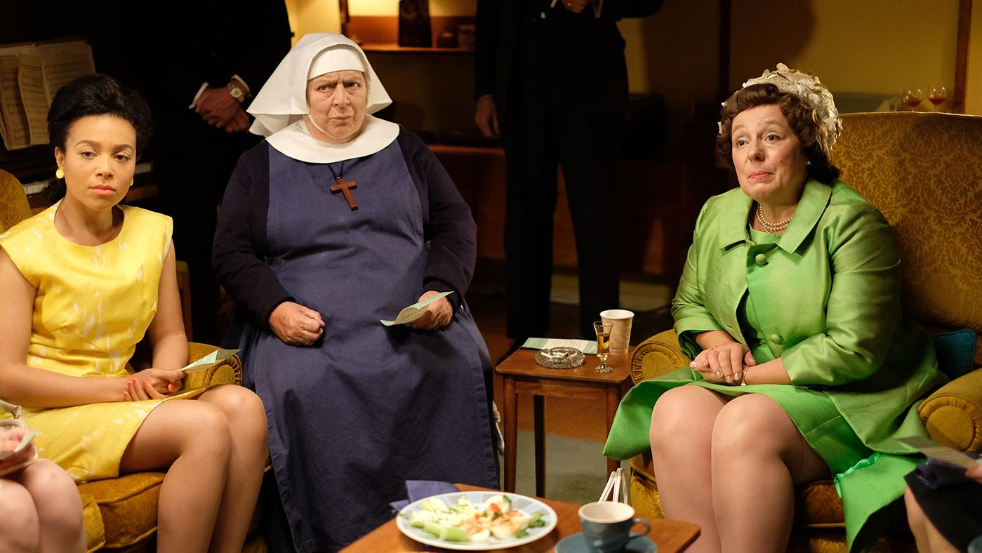 Lucille, Mother Mildred, and Violet in Call the Midwife. Photo: BBC/Neal Street Productions