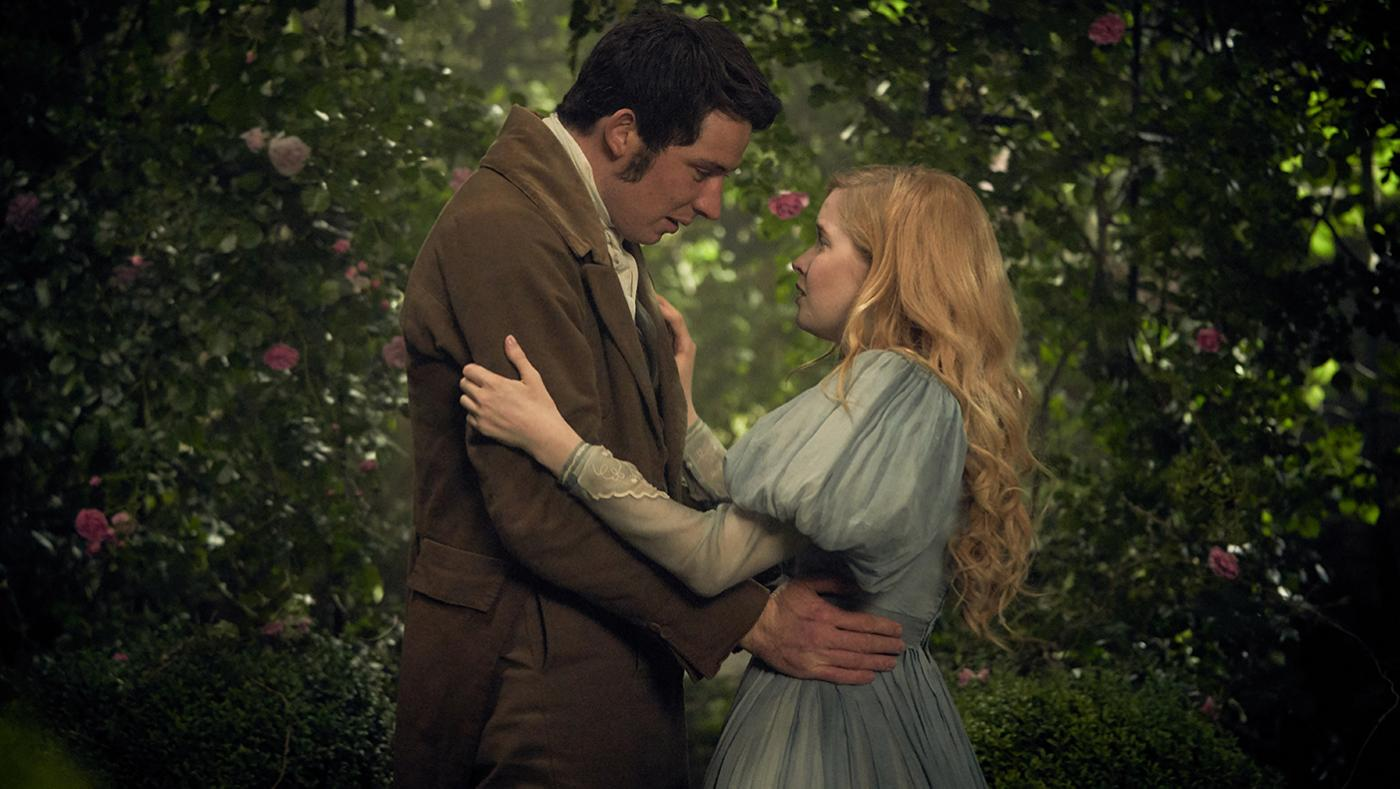 Marius (Josh O'Connor) and Cosette (Ellie Bamber) in Les Miserables. Photo: Robert Viglasky / Lookout Point