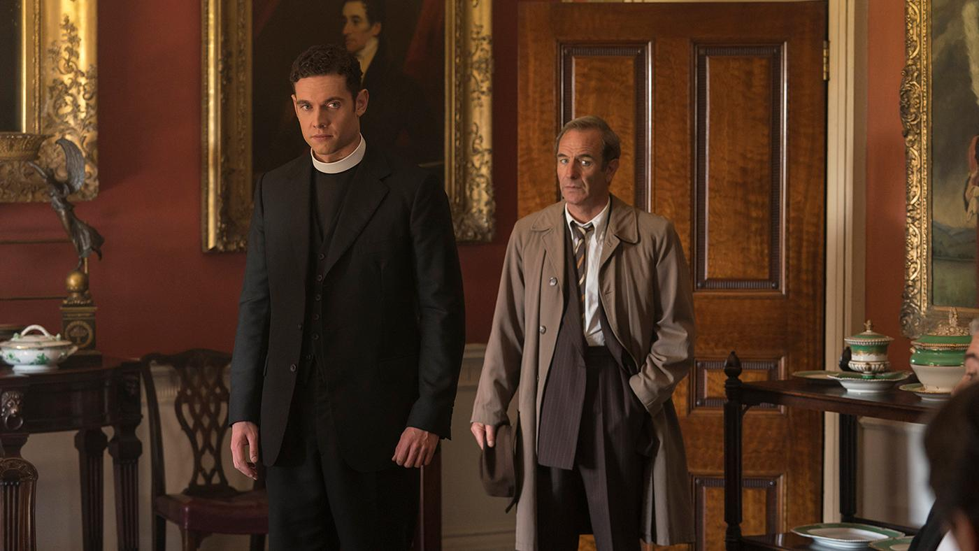 Will and Geordie in Grantchester. Photo: Kudos and MASTERPIECE