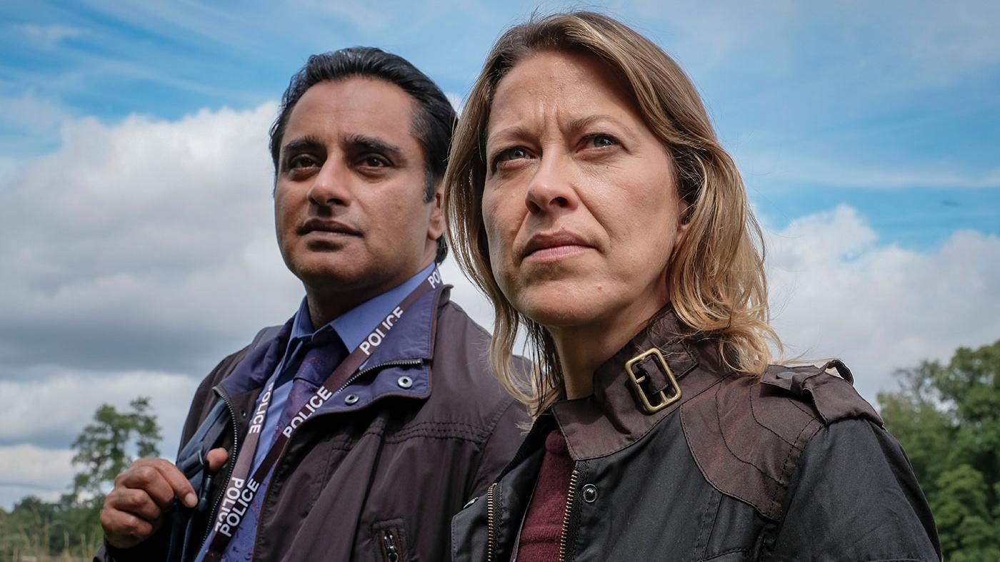 Nicola Walker as DCI Cassie Stuart and Sanjeev Bhaskar as DS Sunny Khan in Unforgotten. Photo: John Rogers/Mainstreet Pictures