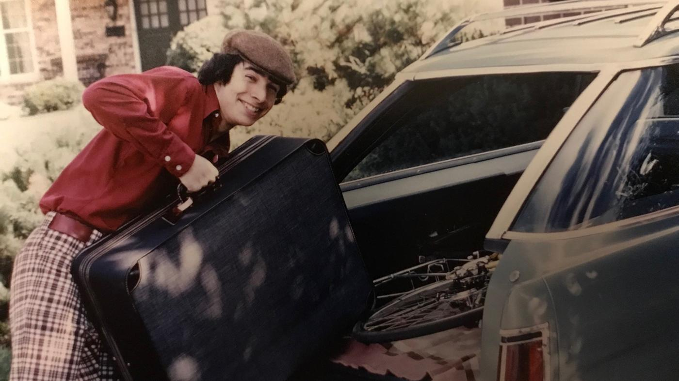 A young Geoffrey Baer getting ready for a road trip