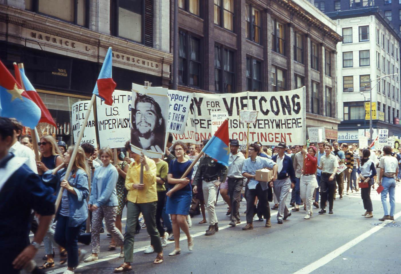 An antiwar march in Chicago before the 1968 Democratic National Convention. Photo: David Wilson/Wikimedia Commons
