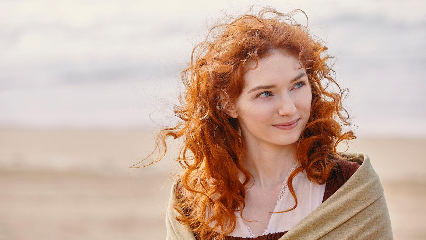 Eleanor Tomlinson as Demelza in season 5 of Poldark. Photo: Mammoth Screen