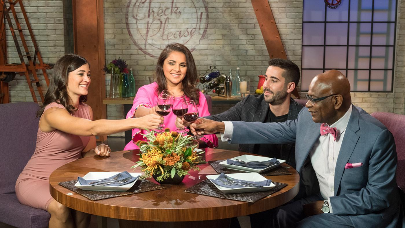 Alpana Singh on the set of Check, Please! for season 19. Photo: WTTW/Ken Carl