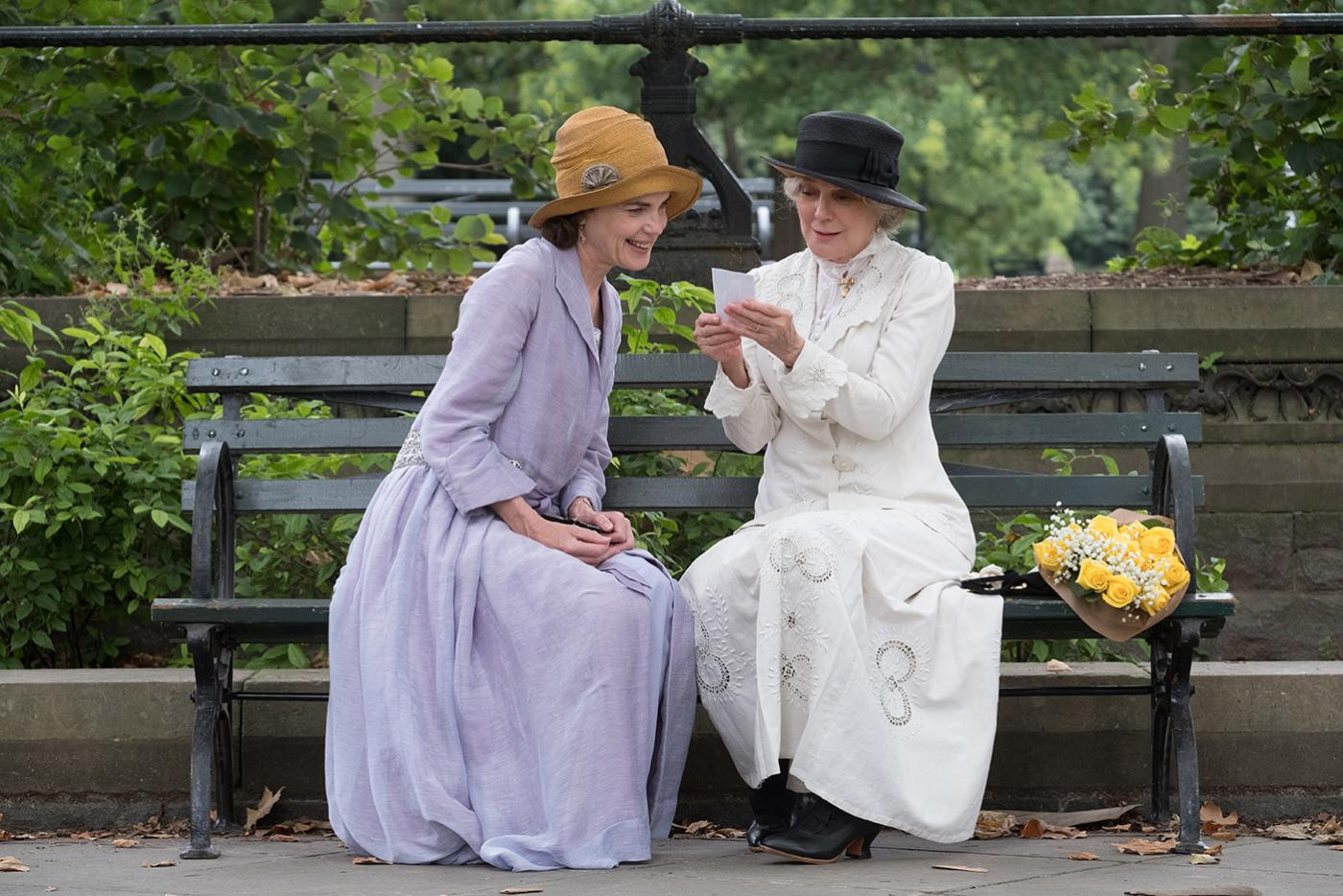 Elizabeth McGovern and Blythe Danner in The Chaperone. Photo: Barry Wetcher/PBS Distribution