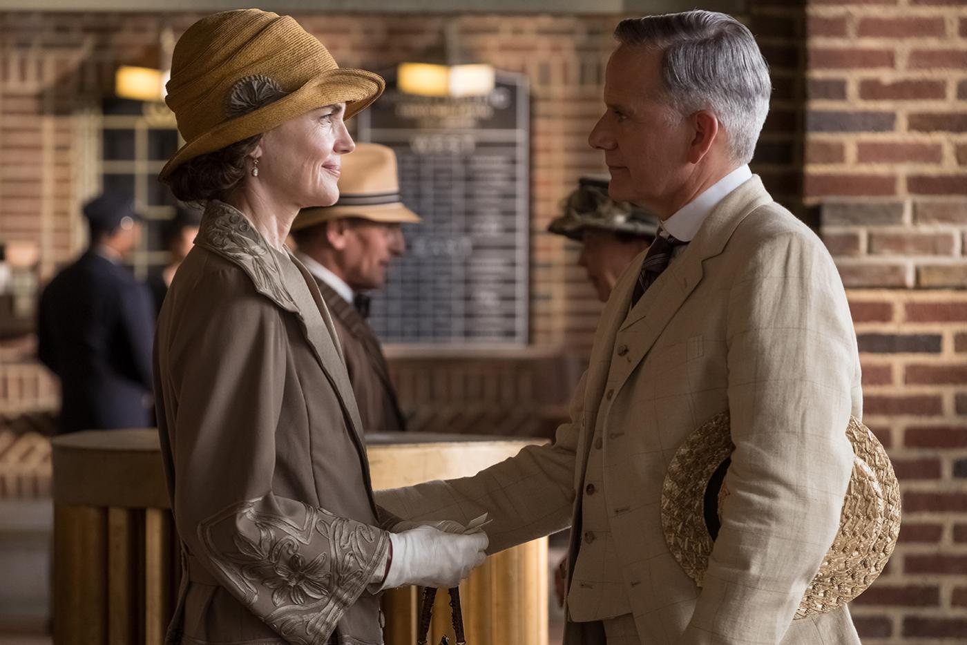 Elizabeth McGovern and Campbell Scott in The Chaperone. Photo: Barry Wetcher/PBS Distribution