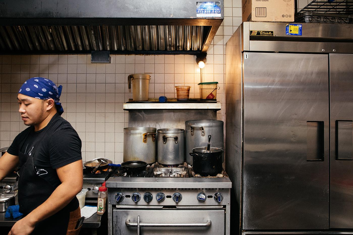 Marc Nunez, the chef at Chicago's Isla Pilipina. Photo: Sandy Noto for WTTW