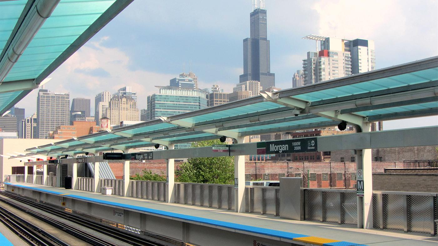 Chicago's Morgan CTA station. Photo: David Wilson via Wikimedia Commons