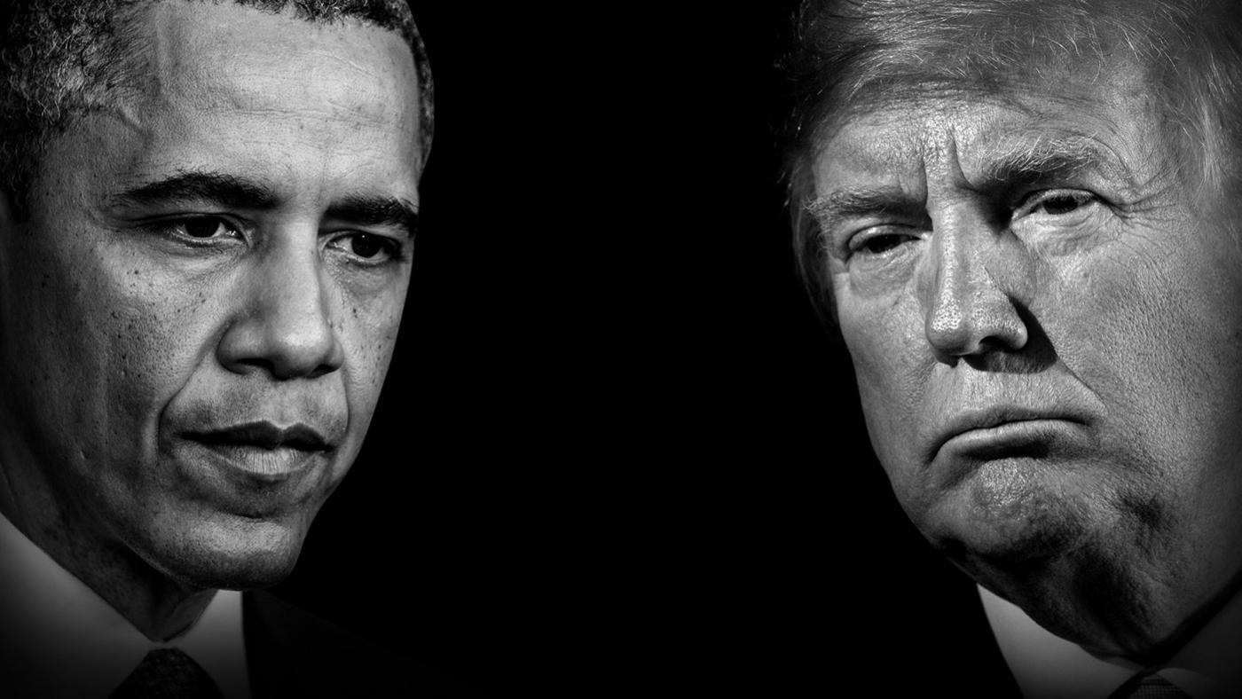 Barack Obama and Donald Trump. Photo: Courtesy of left to right: Olivier Douliery-Pool/Getty Images; BRENDAN SMIALOWSKI/AFP via Getty Images