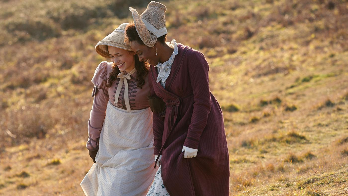 Charlotte Heywood and Miss Lambe in Sanditon. Photo: Red Planet Pictures/ITV 2019