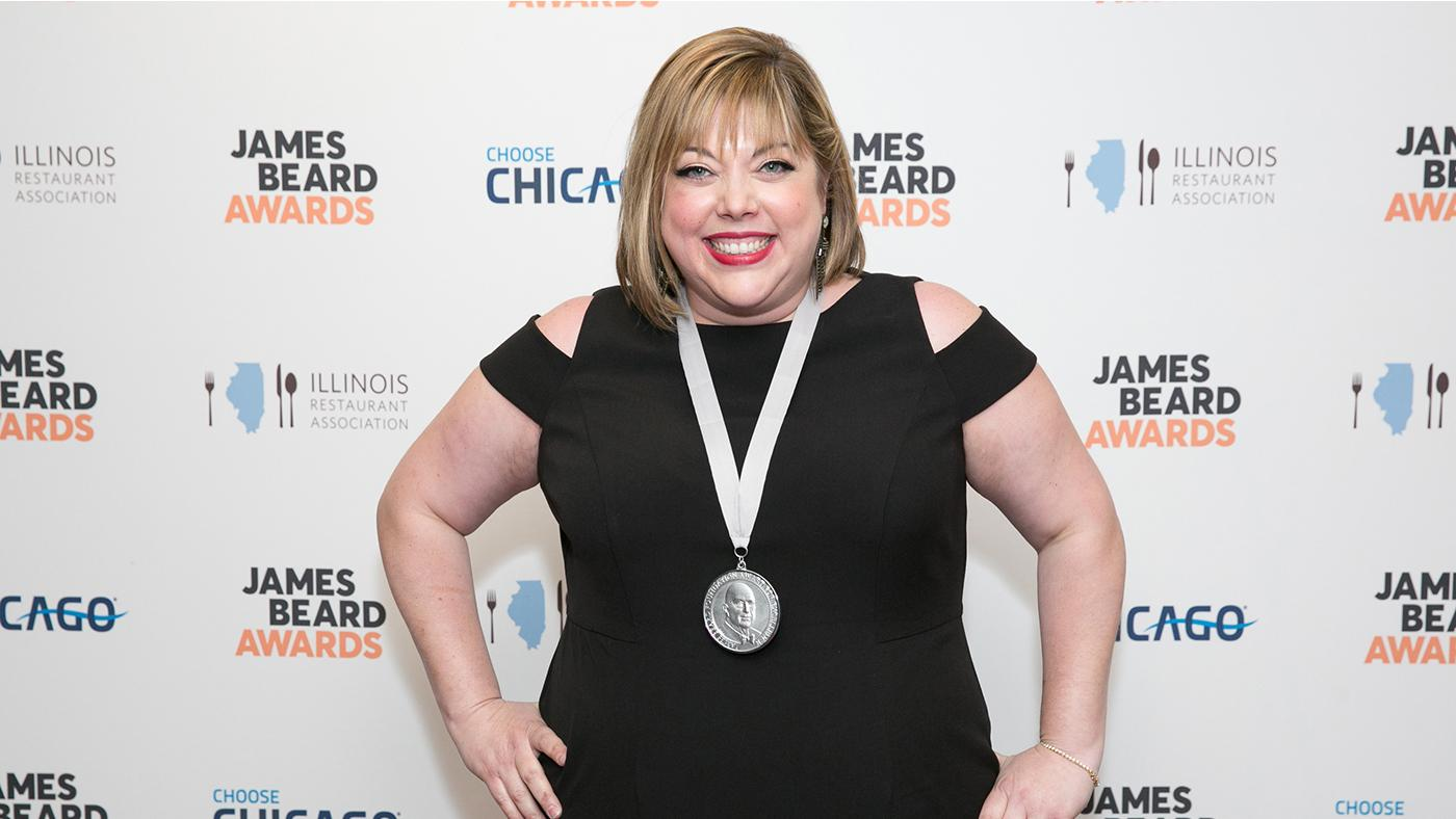 Monteverde's Sarah Grueneberg, seen her with her 2017 James Beard Award for Best Chef: Great Lakes, is up for Outstanding Chef